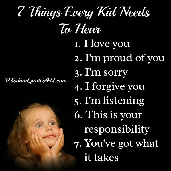 7 Things Every Kid Needs To Hear