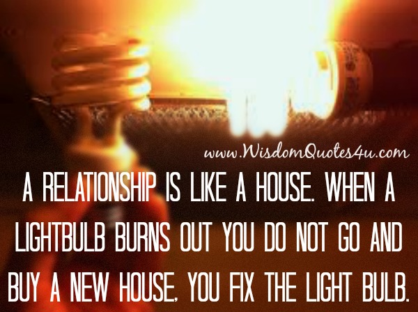 A Relationship is like a House
