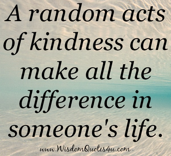 A random acts of kindness