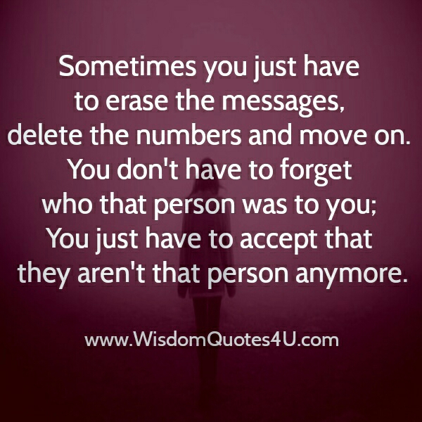 Accept! They aren't that person anymore