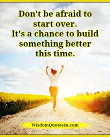 Build something better this time in your life