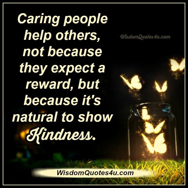 Caring people help others