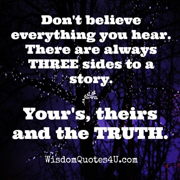 Don't believe everything you hear