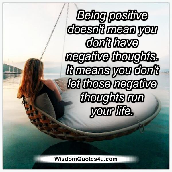Don't let negative thoughts run your life