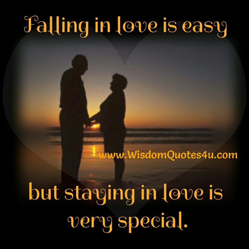Falling in Love is easy