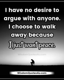 Have no desire to argue with anyone