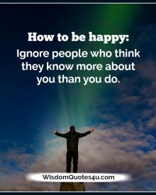 How to be happy in life?