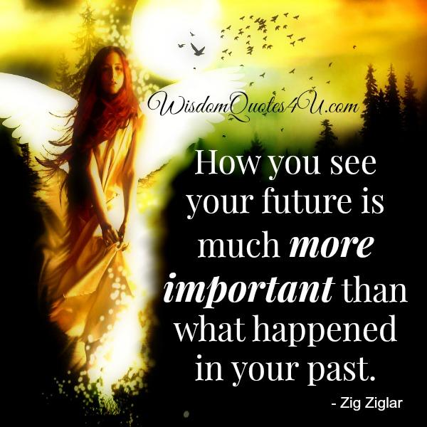 How you see your future is much more important