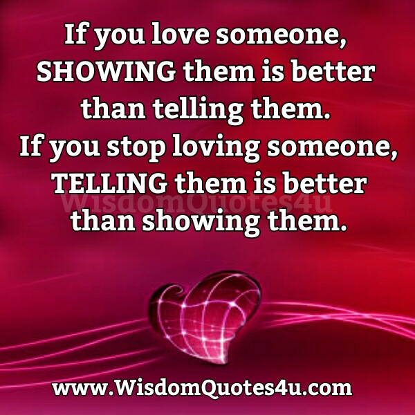 If you Stop Loving someone