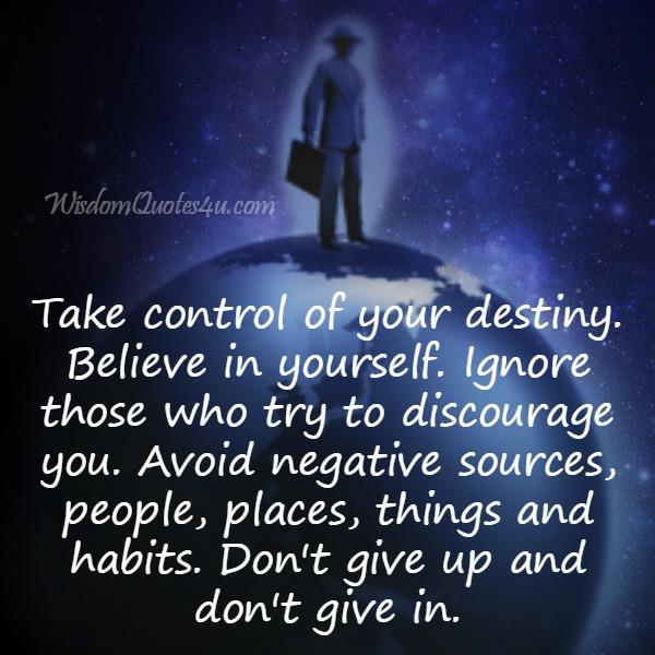 Ignore those who try to discourage you