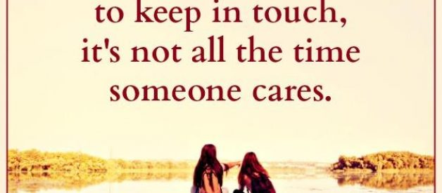 It's not all the time someone cares in life