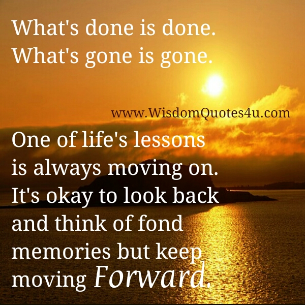 It's ok to Move on from something
