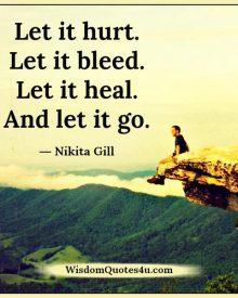 Let it hurt, bleed, heal & let it go