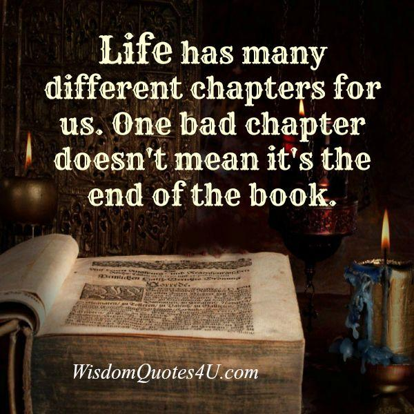 Life has many different chapters for us