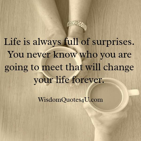 life is always full of surprises  u2013 wisdom quotes