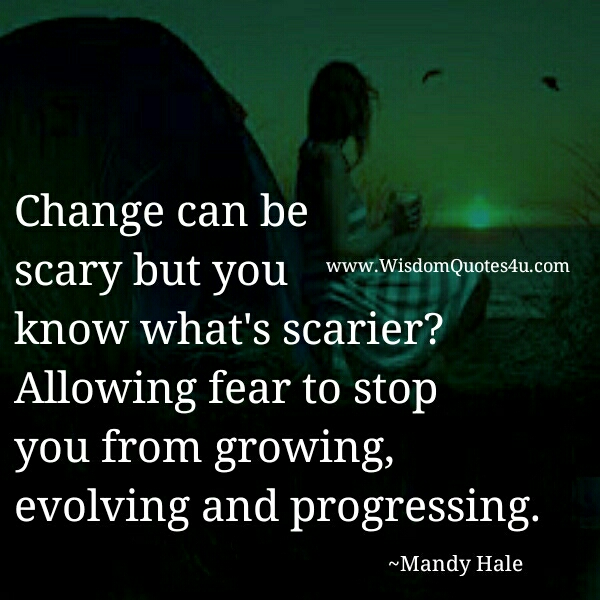 Life Changes Quotes Inspirational Fascinating Making A Big Life Change Is Pretty Scary  Wisdom Quotes