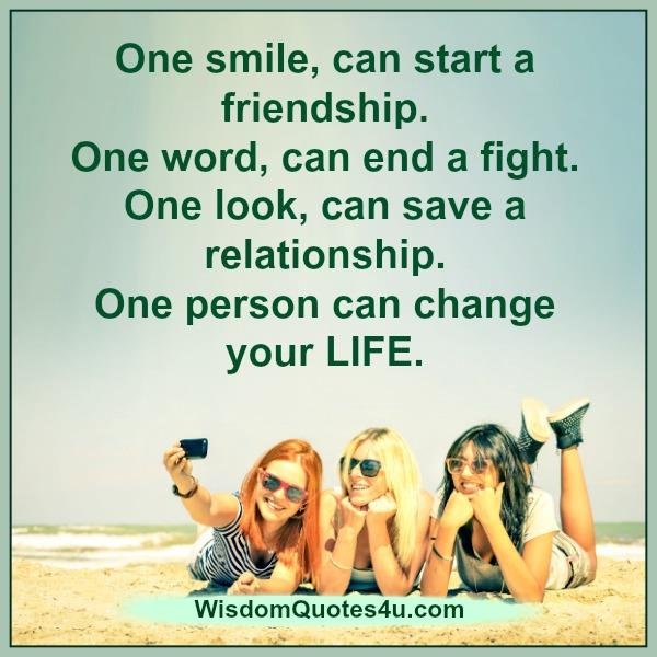 Quotes About Smile And Friendship Beauteous One Smile Can Start A Friendship  Wisdom Quotes