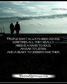 People don't always need advice