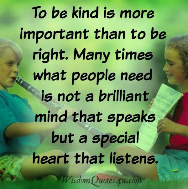 People only need a special heart that listens