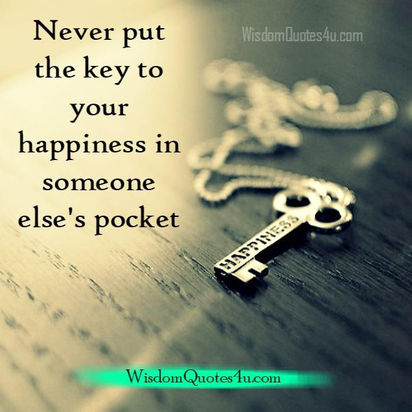 Putting happiness in someone else's pocket