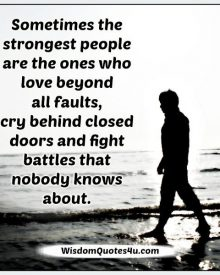 Sometimes the strongest people cry behind closed doors