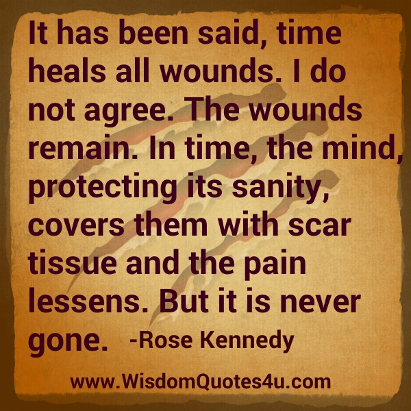 The pain lessens, but it is never gone