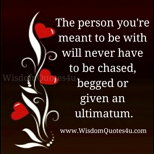 The person you are meant to be with