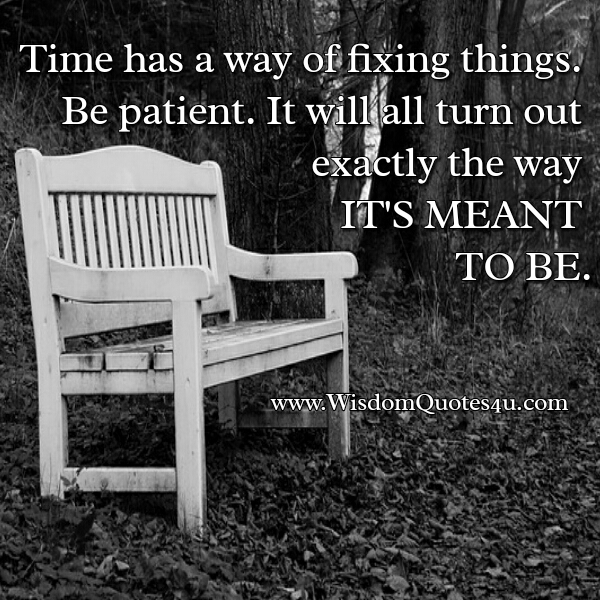 Time has a way of fixing things
