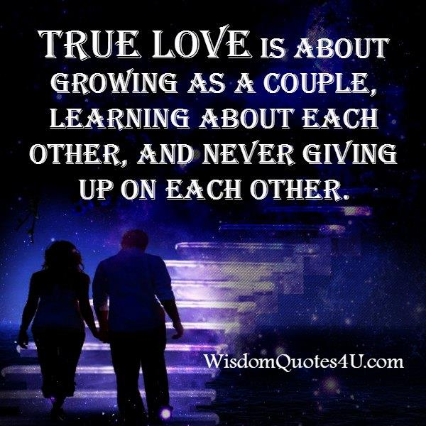 True love is never giving up on each other