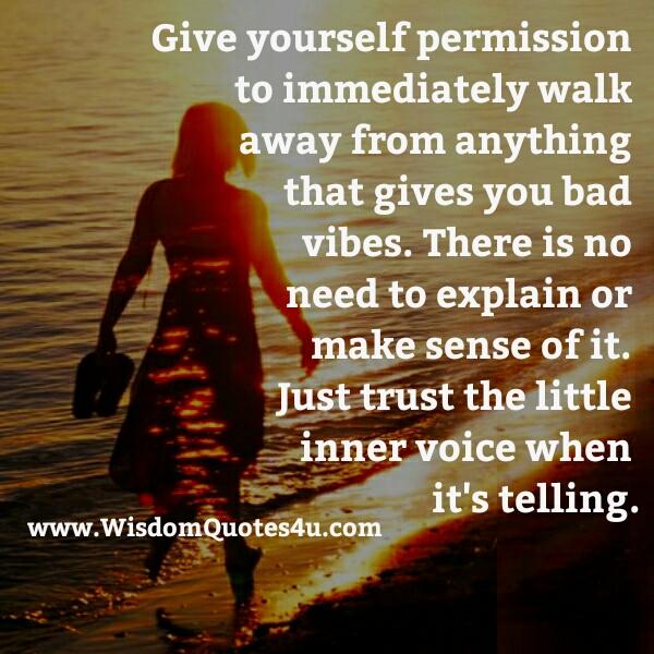 Always trust your gut instincts