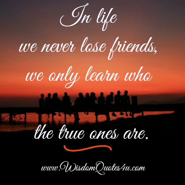 We never lose Friends in our Life