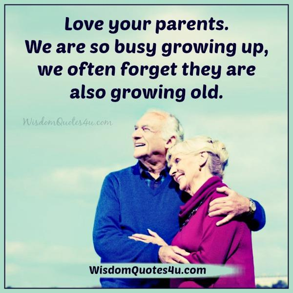 We often forget our parents are growing old