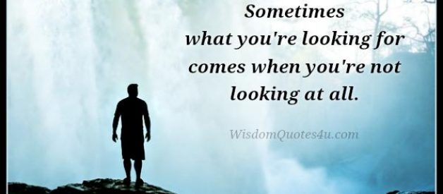 What you are looking for in your life?