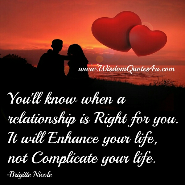 When a relationship is right for you