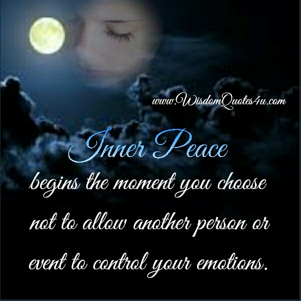 When inner peace begins