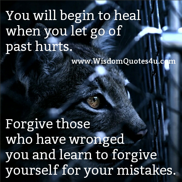 When you let go of past Hurts