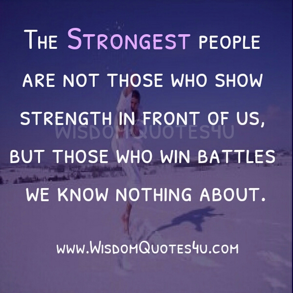 Who are called to be the strongest people