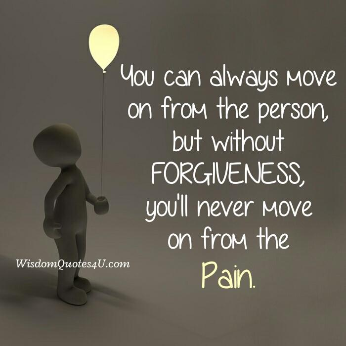 Why you never move on from the pain?
