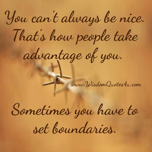 You can't always be nice
