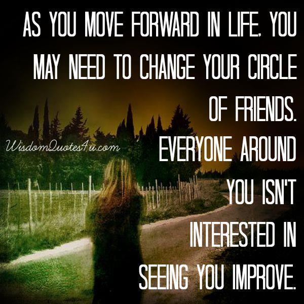 You may need to change your circle of friends